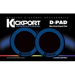 Kickport D-Pad Bass Drum Impact Pad 2-Pack (DPD-BL)