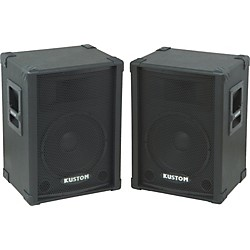 "Kustom KPC12 12"" PA SPeaker Cabinet with Horn Pair (KIT773293)"
