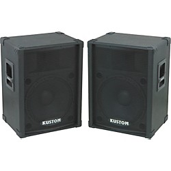 "Kustom KPC15 15"" PA Speaker Cabinet with Horn Pair (KIT773294)"