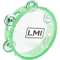 LMI Transparent Tambourine with Head (CD-56P GREEN)