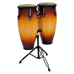 LP City Conga Set with Double Stand (LP646NY-VSB-KIT)
