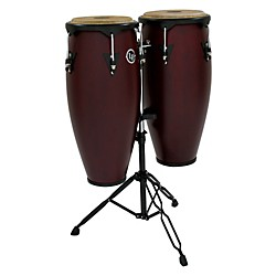 LP City Wood Conga Set w/ Double Stand (LP646NY-DW-KIT OLD)