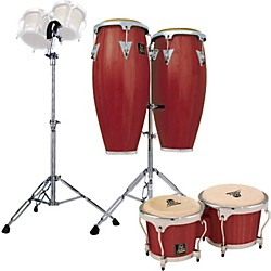 LP Darkwood Aspire Conga Set with Bongos and Stand (KIT772999)