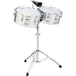 "LP M257 Matador Series 14"" and 15"" Steel Shell Timbales Set (M257)"