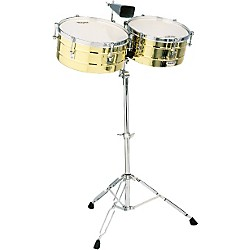 "LP M257B Matador Series 14"" and 15"" Brass Shell Timbales Set (M257B)"