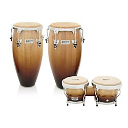 LP Performer Series 3-Piece Conga and Bongo Set with Chrome Hardware (LPP3-VFC)
