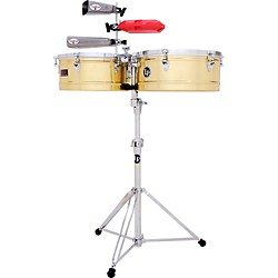 LP Prestige Series Brass Timbales (LP1314-B)