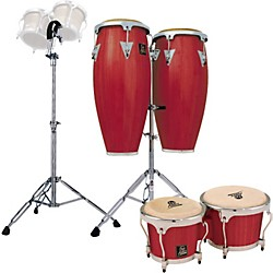 LP Redwood Aspire Conga Set with Bongos and Stand (KIT772998)