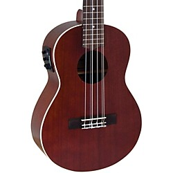 Lanikai All-Mahogany 6-String Tenor Acoustic-Electric Ukulele (LU2-6EK)