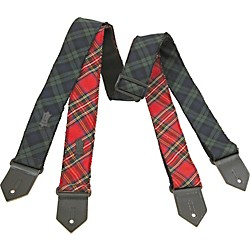 Levy's Cotton Plaid Guitar Strap (M8PF-GRN)
