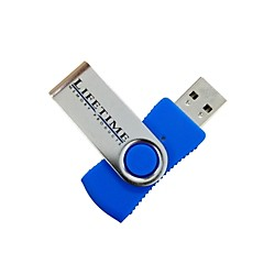 Lifetime Memory Products USB 2.0 QuickStick Swivel Flash Drive (USED004000 10089-2s)