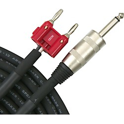 "Live Wire Elite 12-Gauge 1/4"" Banana Speaker Cable (S12BQ25-LW)"