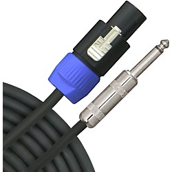 Live Wire Elite 12-Gauge Speakon to 1/4 Inch Speaker Cable (S12NQ25-LW)