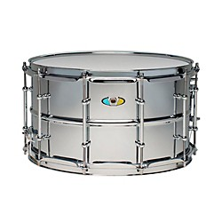 "Ludwig Supralite Steel Snare Drum, 14 x 8"" (LW0814SLD)"