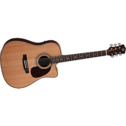 Luna Guitars Americana Classic Cutaway Acoustic-Electric Guitar (AM D100)