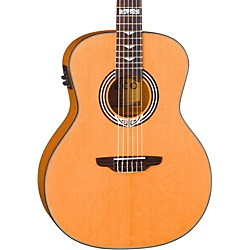 Luna Guitars Artist Series Deco All Solid Wood Grand Auditorium Acoustic-Electric Nylon Guitar (Art Deco Nylon)
