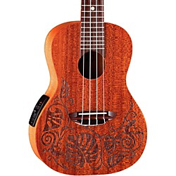 Luna Guitars Concert Acoustic Electric Ukulele (Uke Mo El)