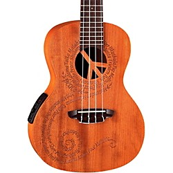 Luna Guitars Concert Acoustic Electric Ukulele (Uke Malu El)