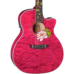 Luna Guitars Custom Grand Concert Acoustic Electric Guitar (Flo Lot Custom)