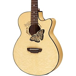 Luna Guitars Fauna Butterfly Acoustic/Electric Guitar (FAUBTFLY)