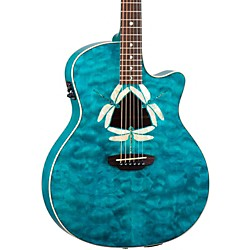 Luna Guitars Fauna Dragonfly Acoustic-Electric Guitar Quilted Maple Top (FAUDFQM)