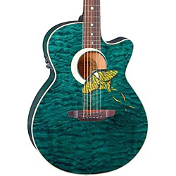 Luna Guitars Fauna Series Folk Acoustic Electric Guitar (Fau Lunamoth)