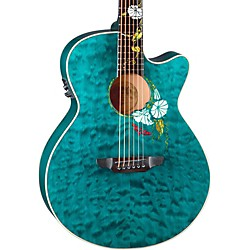 Luna Guitars Flora Series Custom Folk Acoustic-Electric Guitar (Flo Moon Custom)