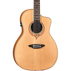 Luna Guitars Heartsong Parlor Acoustic Electric Guitar With USB (Song Par)