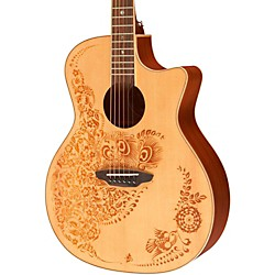 Luna Guitars Henna Oasis Spruce Series II Acoustic-Electric Guitar (HENO2SPR)
