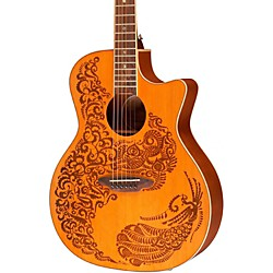 Luna Guitars Henna Paradise Cedar Series II Acoustic-Electric Guitar (HEN P2 CDR)