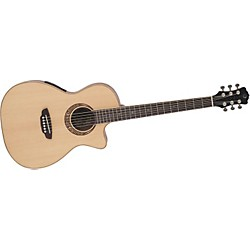 Luna Guitars Muse Parlor Acoustic-Electric Guitar (MUS PAR B)