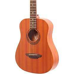 Luna Guitars Muse Safari Series Mahogany 3/4 Dreadnought Travel Acoustic Guitar (MUS SAF MAH)