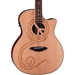 Luna Guitars Oracle Grand Concert Series Peace Acoustic-Electric Guitar (OCL PCE)