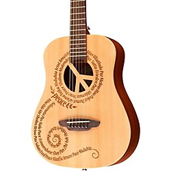 Luna Guitars Safari 3/4 Size Travel Guitar with Peace Design (SAF PCE)