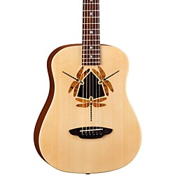 Luna Guitars Safari Dragonfly 3/4 Size Travel Acoustic Guitar (SAF DF NAT)