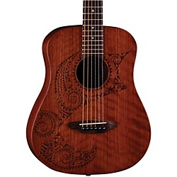 Luna Guitars Safari Tattoo 3/4 Size Travel Guitar (SAF TATTOO)