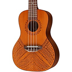 Luna Guitars Tapa Cedar Acoustic-Electric Ukulele (UKE TAPA CDR)