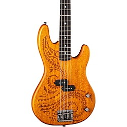 Luna Guitars Tattoo Long Scale Electric Bass (TAT 34)
