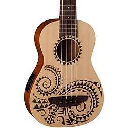 Luna Guitars Tattoo Ukulele Acoustic-Electric Bass (UKE BASS TAT)