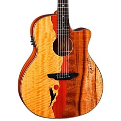 Luna Guitars Vista Eagle Koa Back and Sides Acoustic-Electric Guitar (Vista Eagle w/case)