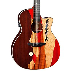 Luna Guitars Vista Mustang Rosewood Back and Sides Acoustic-Electric Guitar (Vista Mustang w/case)