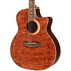 Luna Guitars Woodland Series Bubinga Cutaway Acoustic-Electric Guitar (WL BUBINGA)