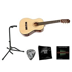 Lyons Beginner 1/2 Scale Nylon-String Guitar Bundle (Lyons 1/2 Size Nylon BNDL)