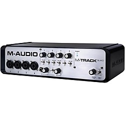 M-AUDIO M-Track Quad 4 Channel Audio Plus USB MIDI Interface (MTRACK QUAD)