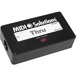 MIDI Solutions 2-Output Active MIDI Thru Box (THRU)