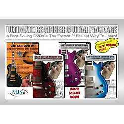 MJS Music Publications Ultimate Beginner Guitar 4 DVD Package (BEG4PK)