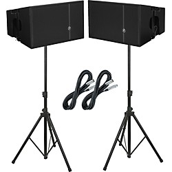 "Mackie HDA 12"" 2-Way Arrayable Powered Loudspeakers (Pair) Package (HDAPAIR)"