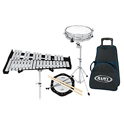 Mapex Backpack Snare Drum and Bell Percussion Kit with Rolling Bag (MK1432DP)