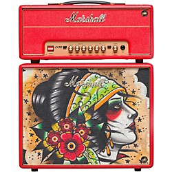 Marshall Custom Tattoo Vicky Morgan Stack JVM-1H 1W Tube Guitar Head and 1x10 Cab (Vicky Stack)