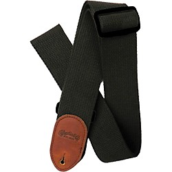 "Martin 2"" Cotton Acoustic Guitar Strap with Leather Ends (40MSP0026)"